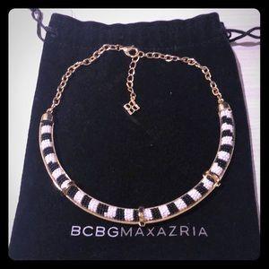 BCBG Collar Necklace Gold Black White